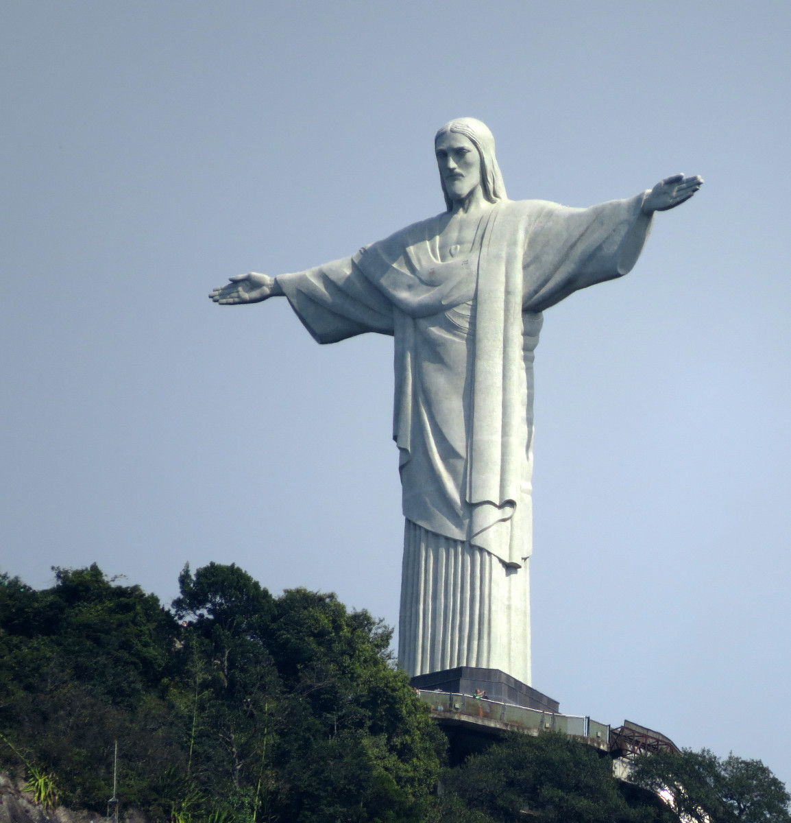 Cristo Redentor (Christ the Redeemer) atop Corcovado (the Hunchback) Mountain, in Rio de Janeiro was once the largest art deco statue in the Western Hemisphere.