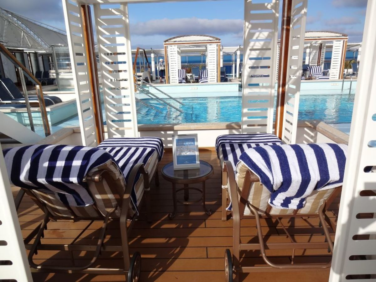 Poolside on the Royal Princess