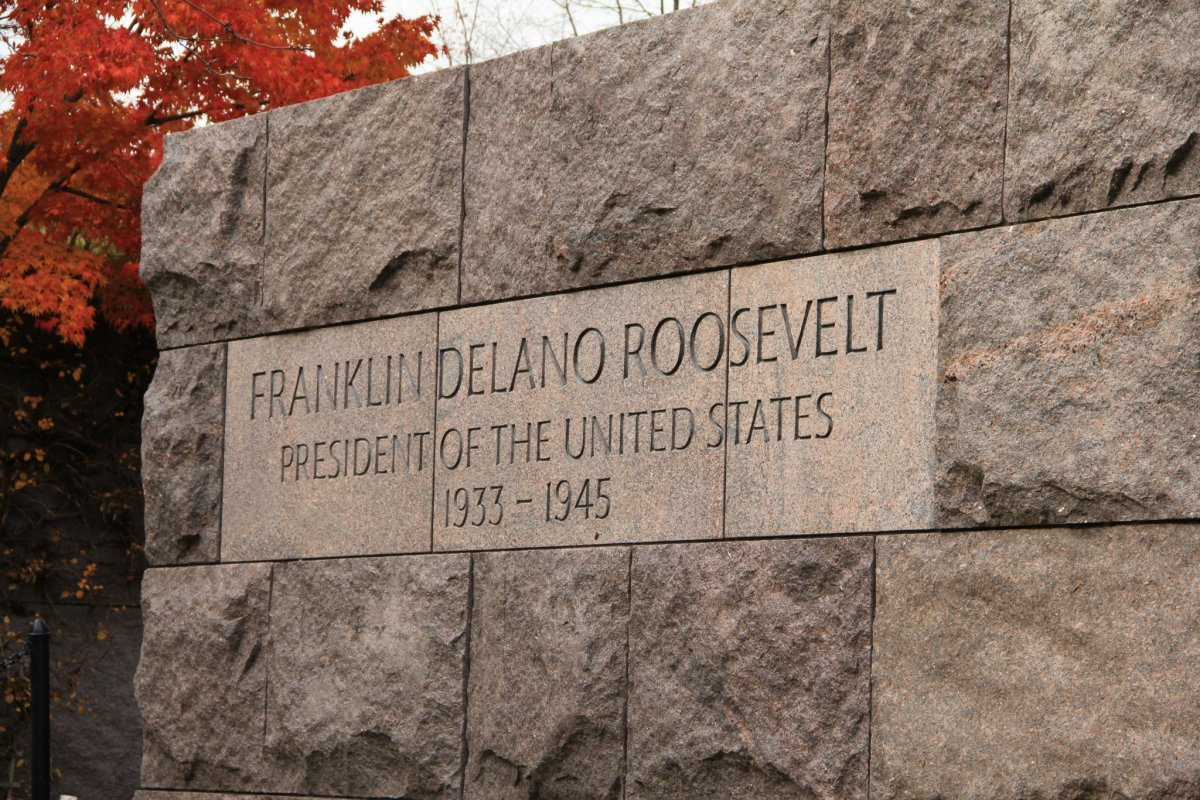 Franklin Delano Roosevelt Memorial, 2012