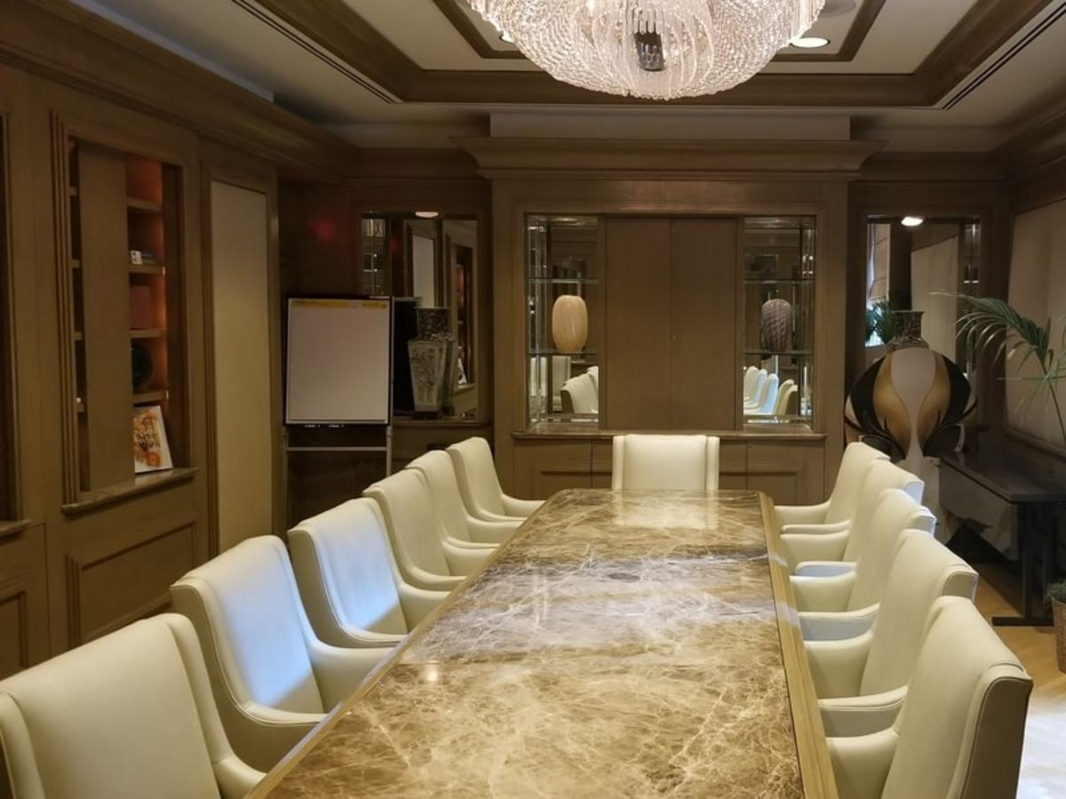 One of the hotel's business meeting rooms located on the second floor. This is the Venetian Meeting Room.