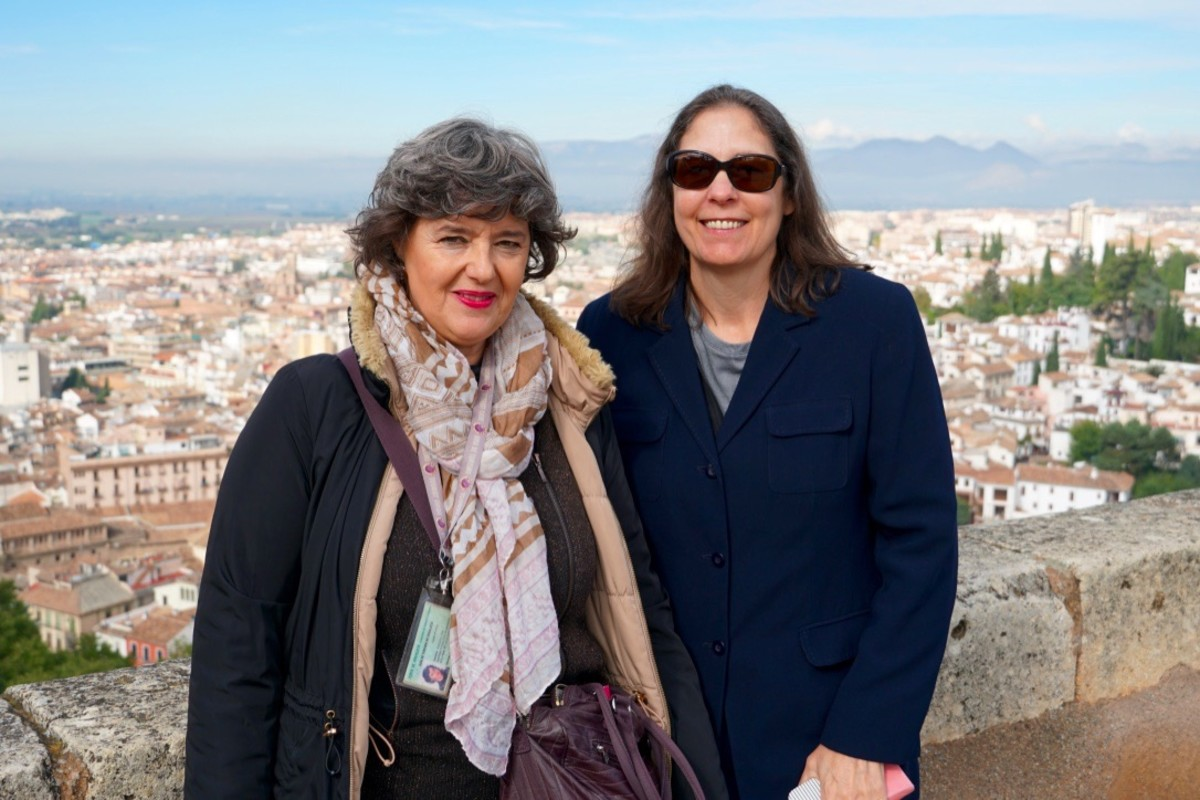 Our guide, Margarita Ortiz de Landazuri on the left with my wife, Terry.