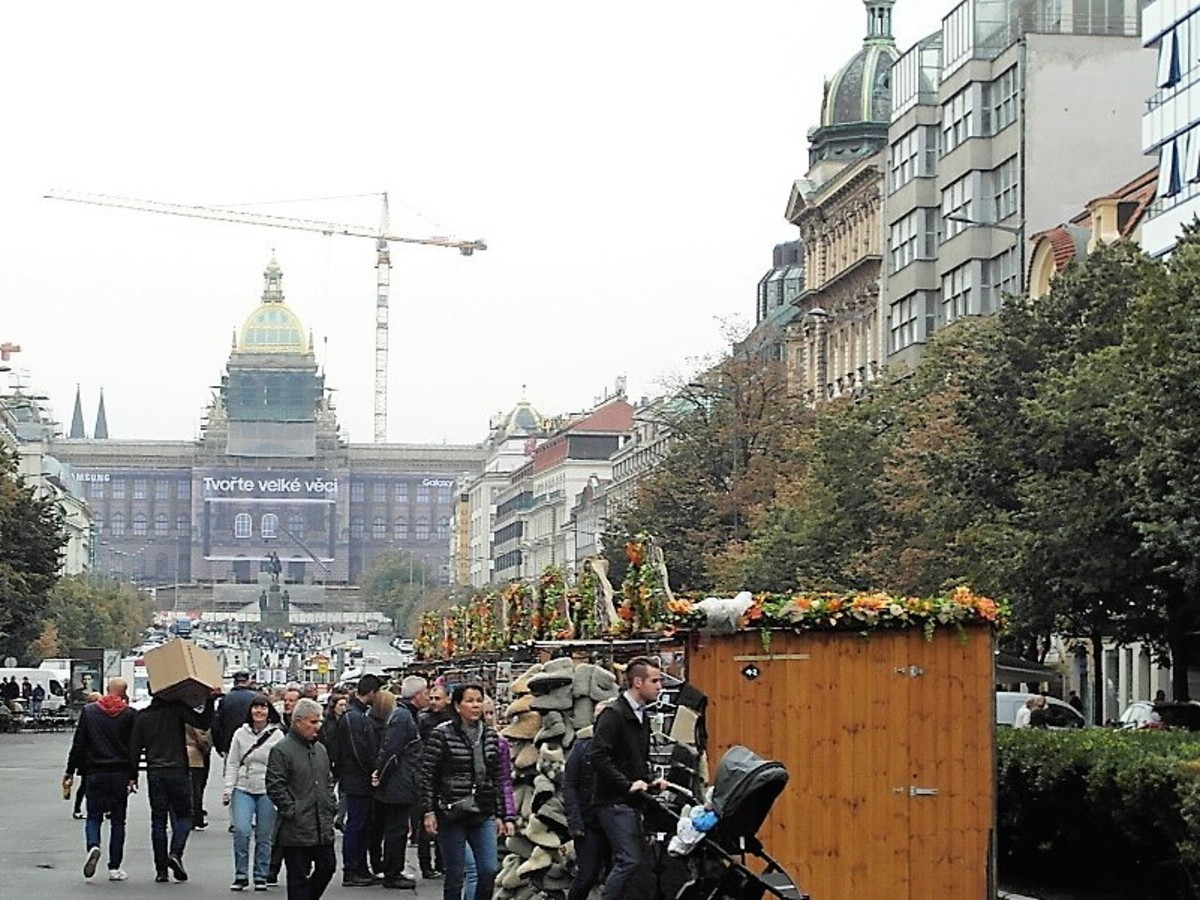 Wenceslas Square, Prague.
