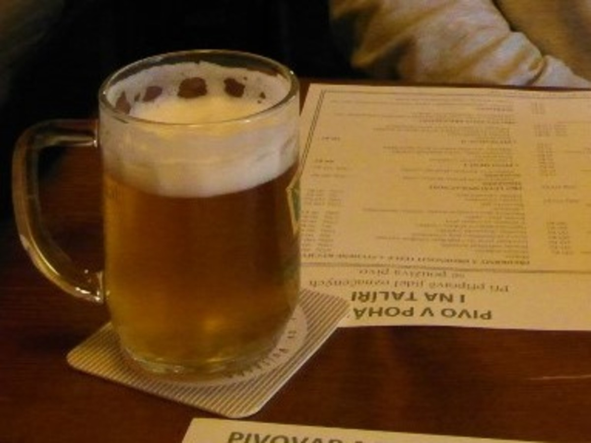 A small beer in Pivovarsky Dum, Prague.
