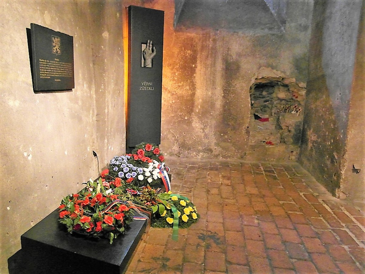 Memorials in the crypt.