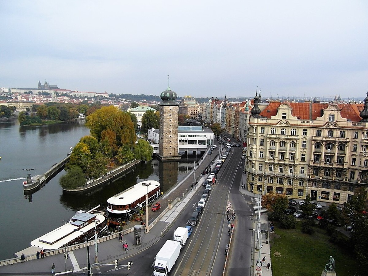 View from the Dancing House, Prague.