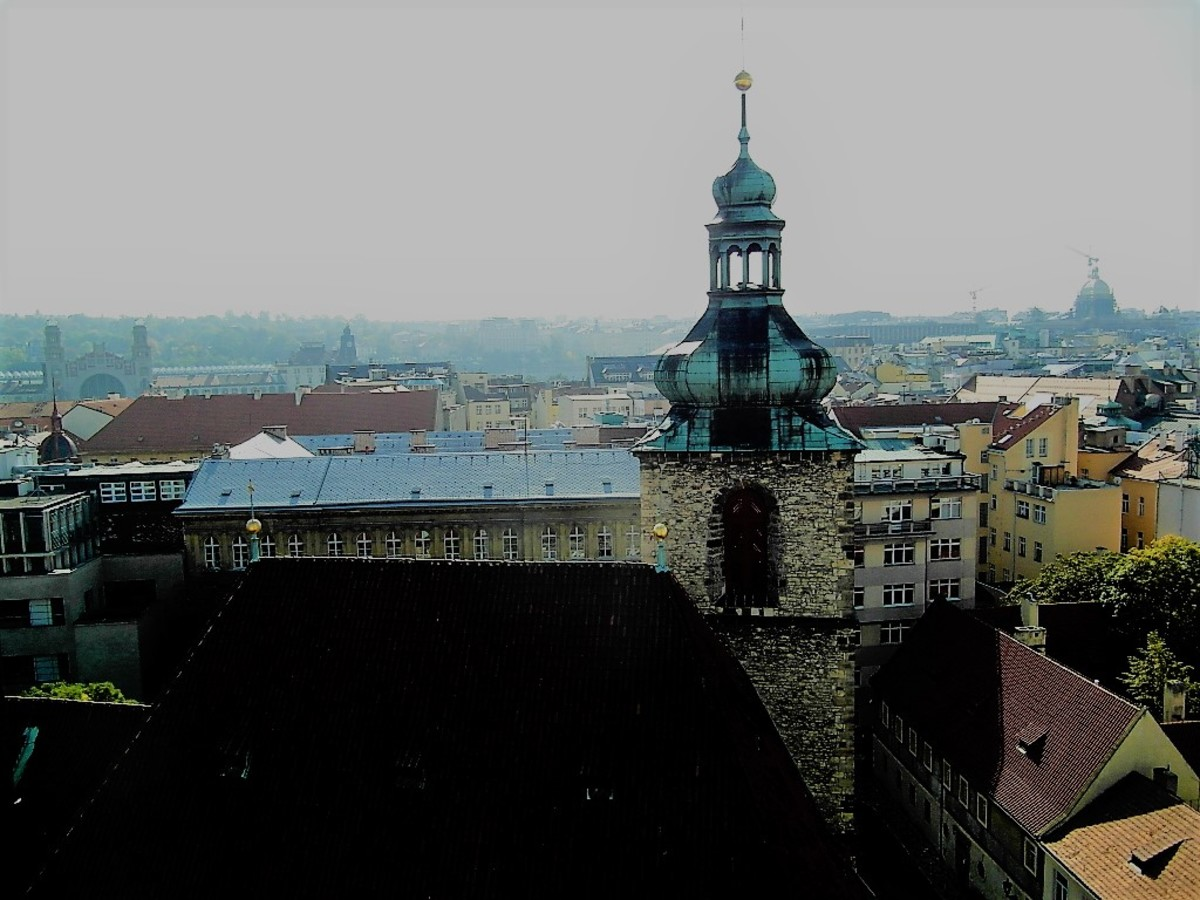 Over the rooftops of Prague.