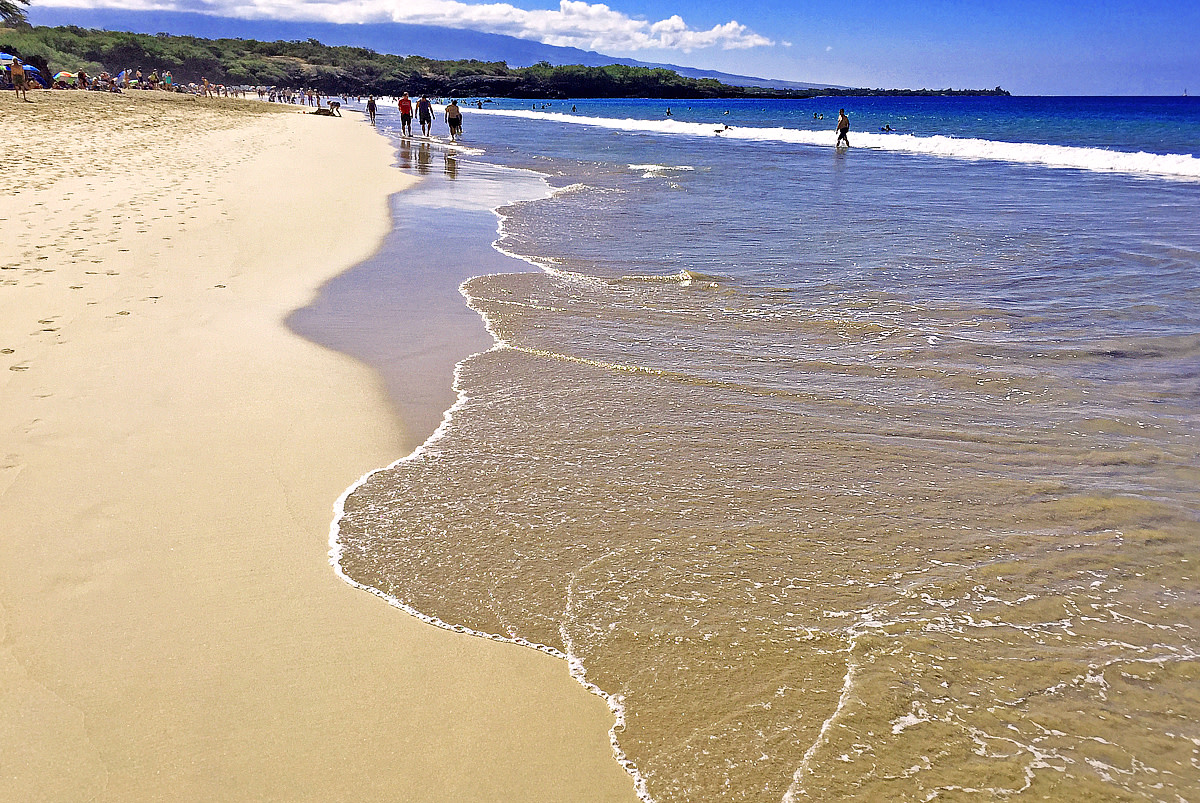 Hapuna Beach is the favorite beach among locals and visitors.