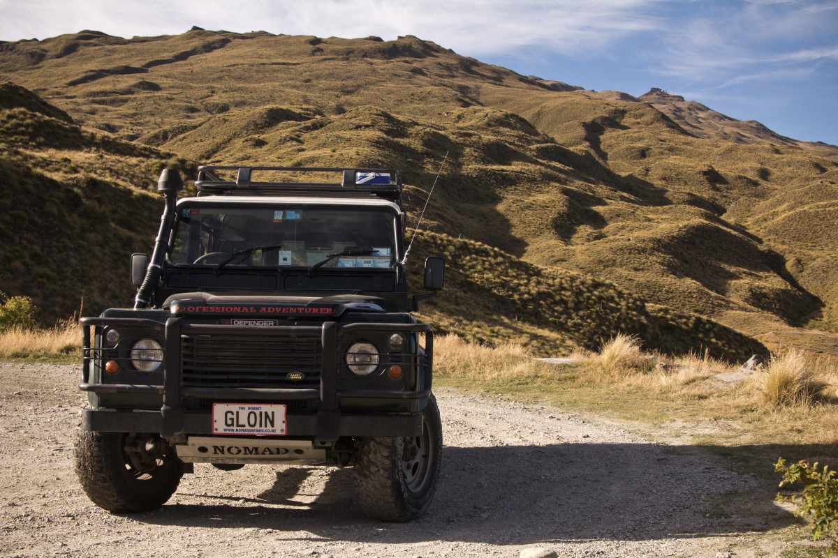 The jeep we rode in around the mountains of Queenstown, New Zealand.