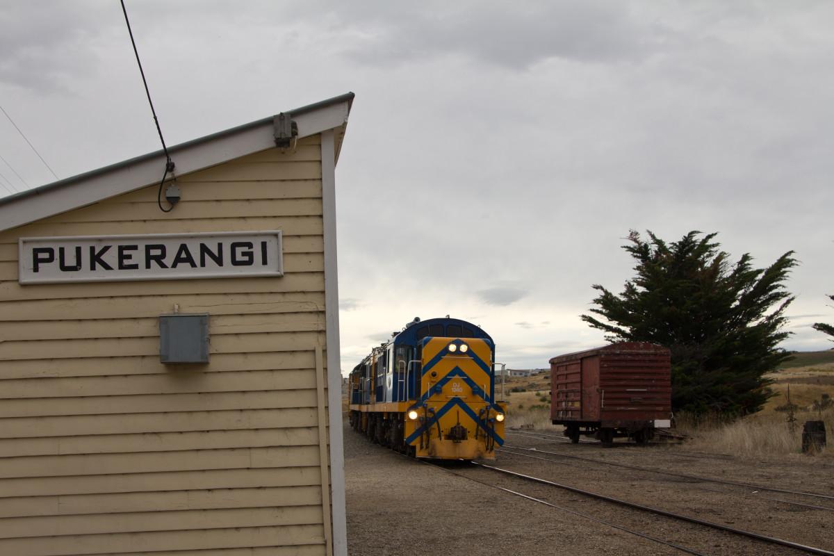 The Dunedin Railways train picking us up in Pukerangi.