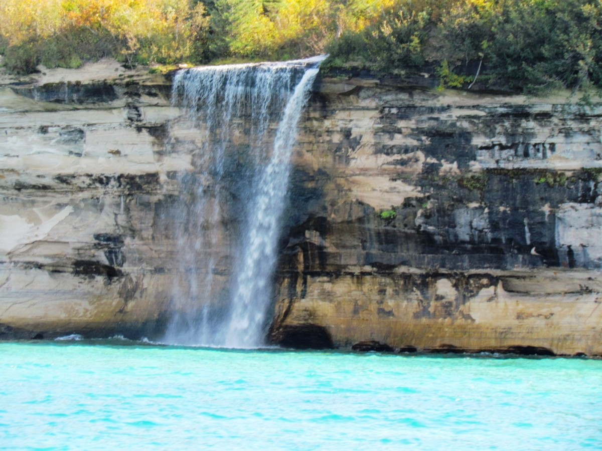 Spray Falls at Pictured Rocks National Lakeshore on Lake Superior