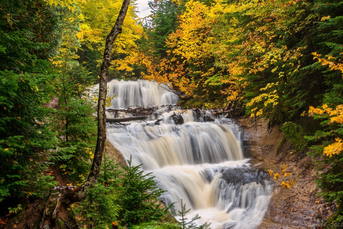 Sable Falls at Pictured Rocks National Lakeshore on Lake Superior