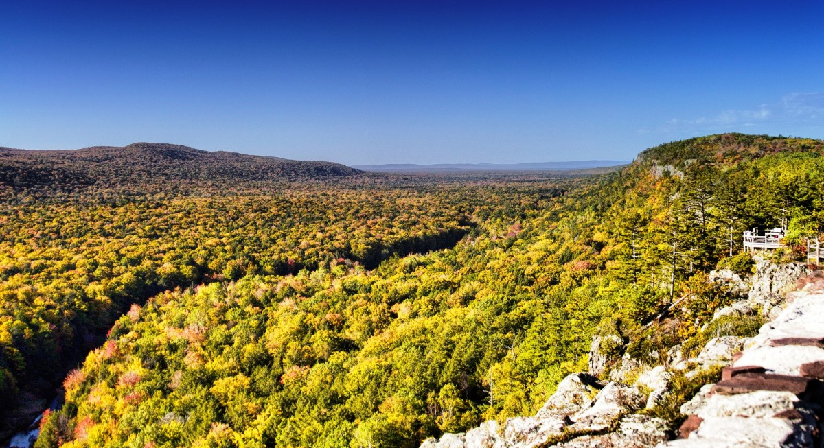 View from Porcupine Mountain at Porcupine Mountain Wilderness State Park, Michigan