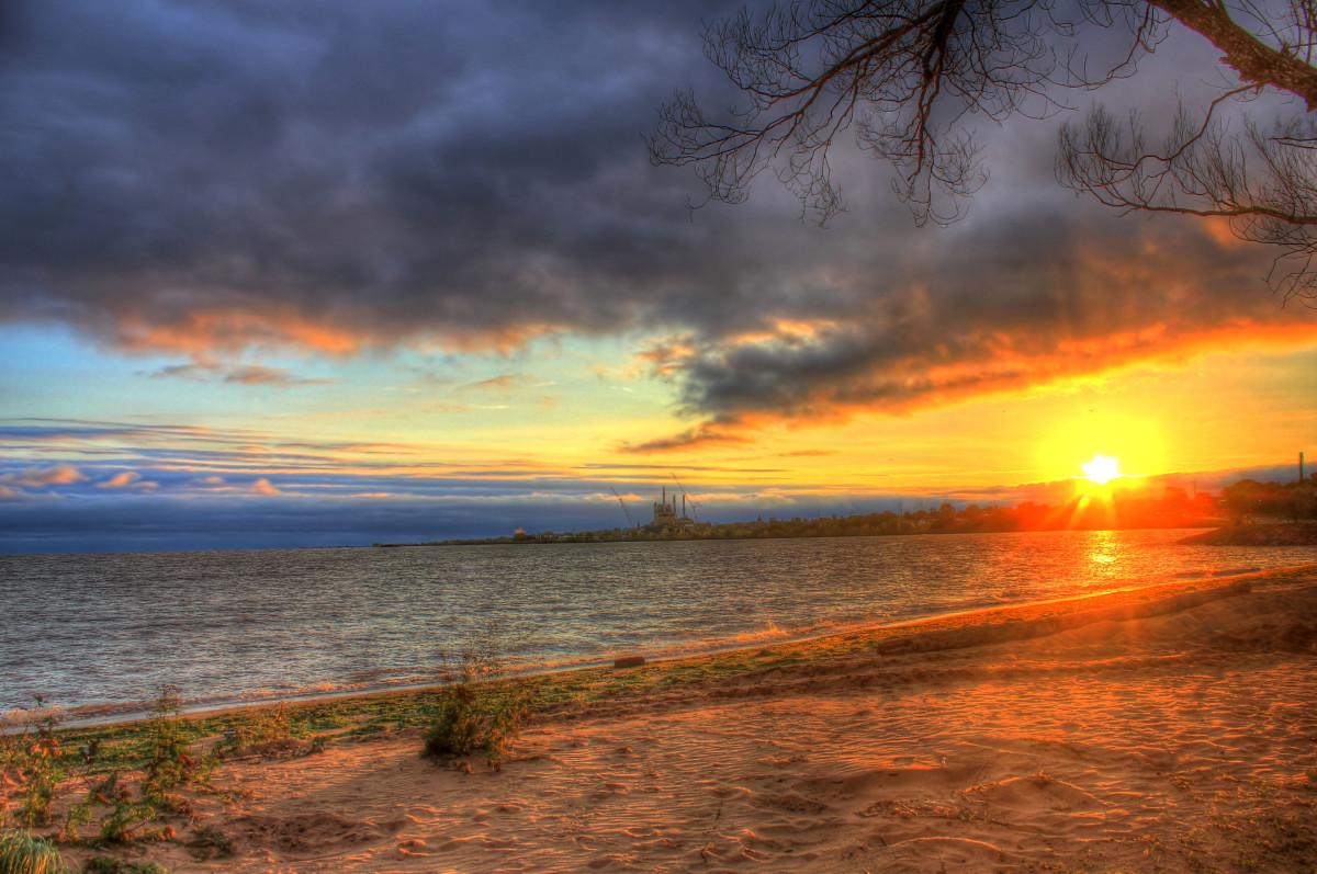 Scenic sunrise at Apostle Island's National Lakeshore