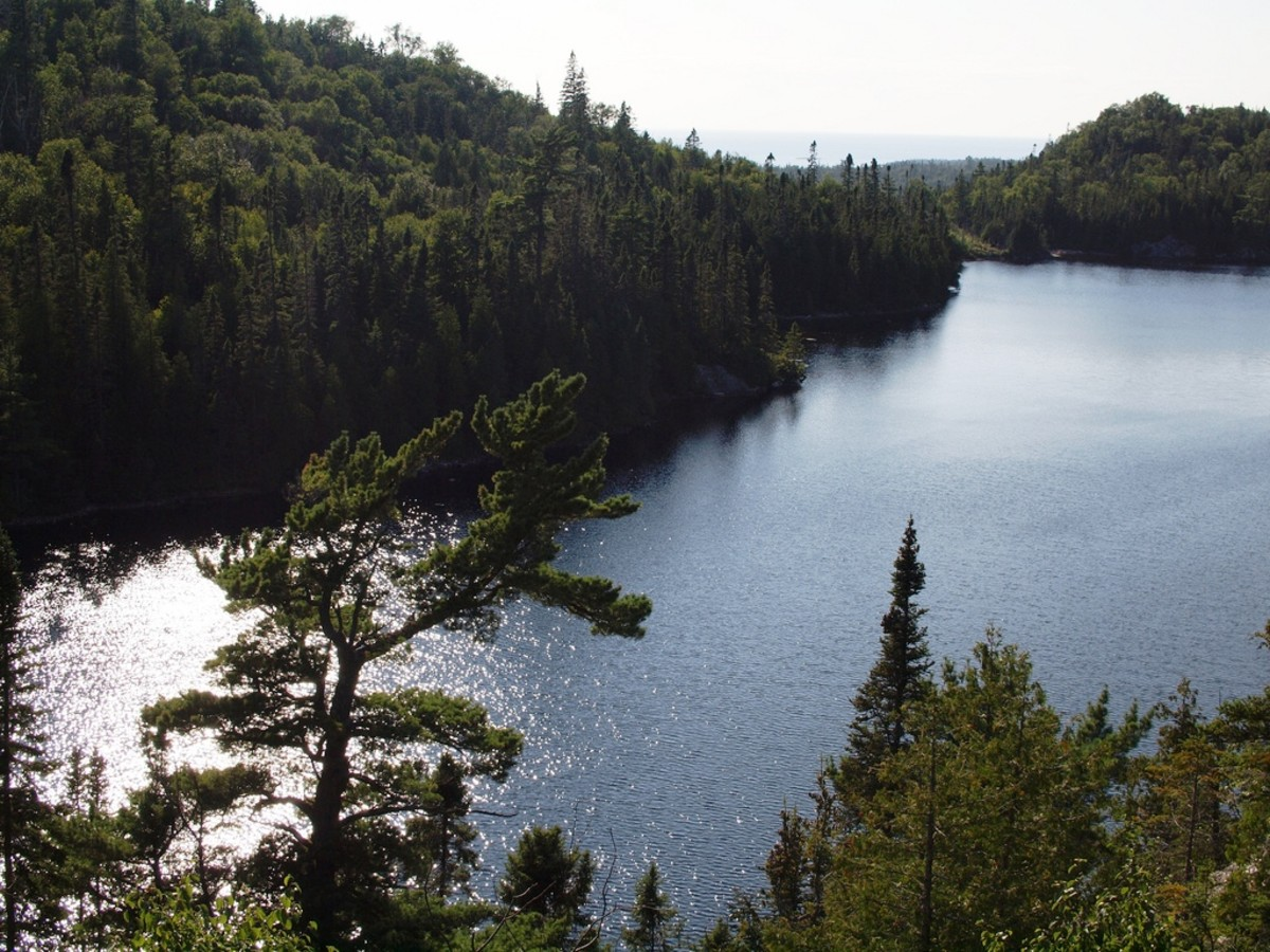 Coastal Trail at Lake Superior Provincial Park in Ontario, Canada
