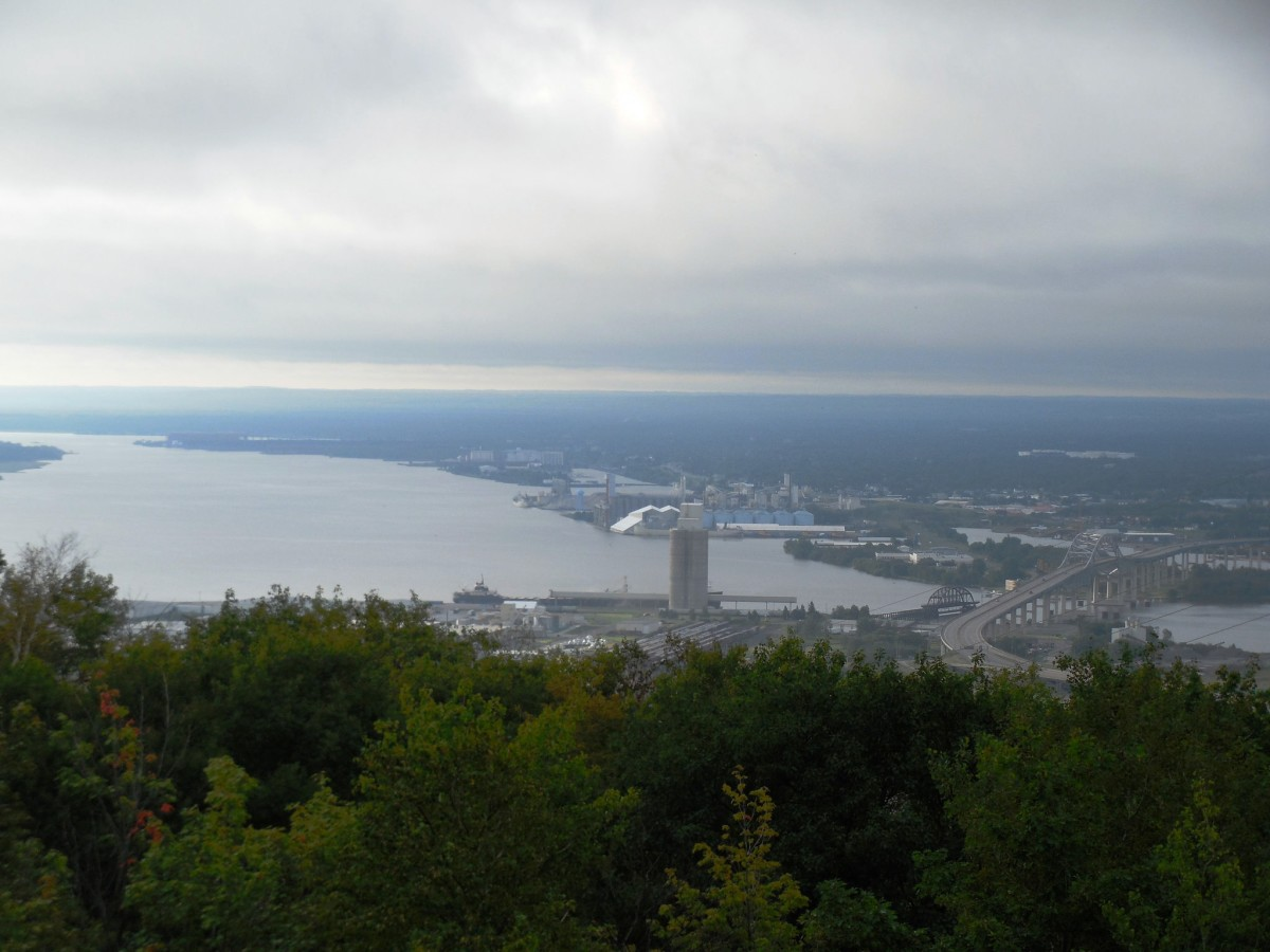 View from Enger Tower and Park in Duluth, Minnesota