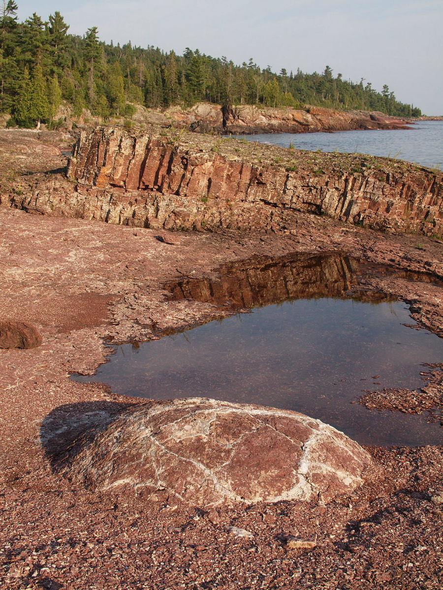 View from the Coastal Trail at Lake Superior Provincial Park in Ontario, Canada