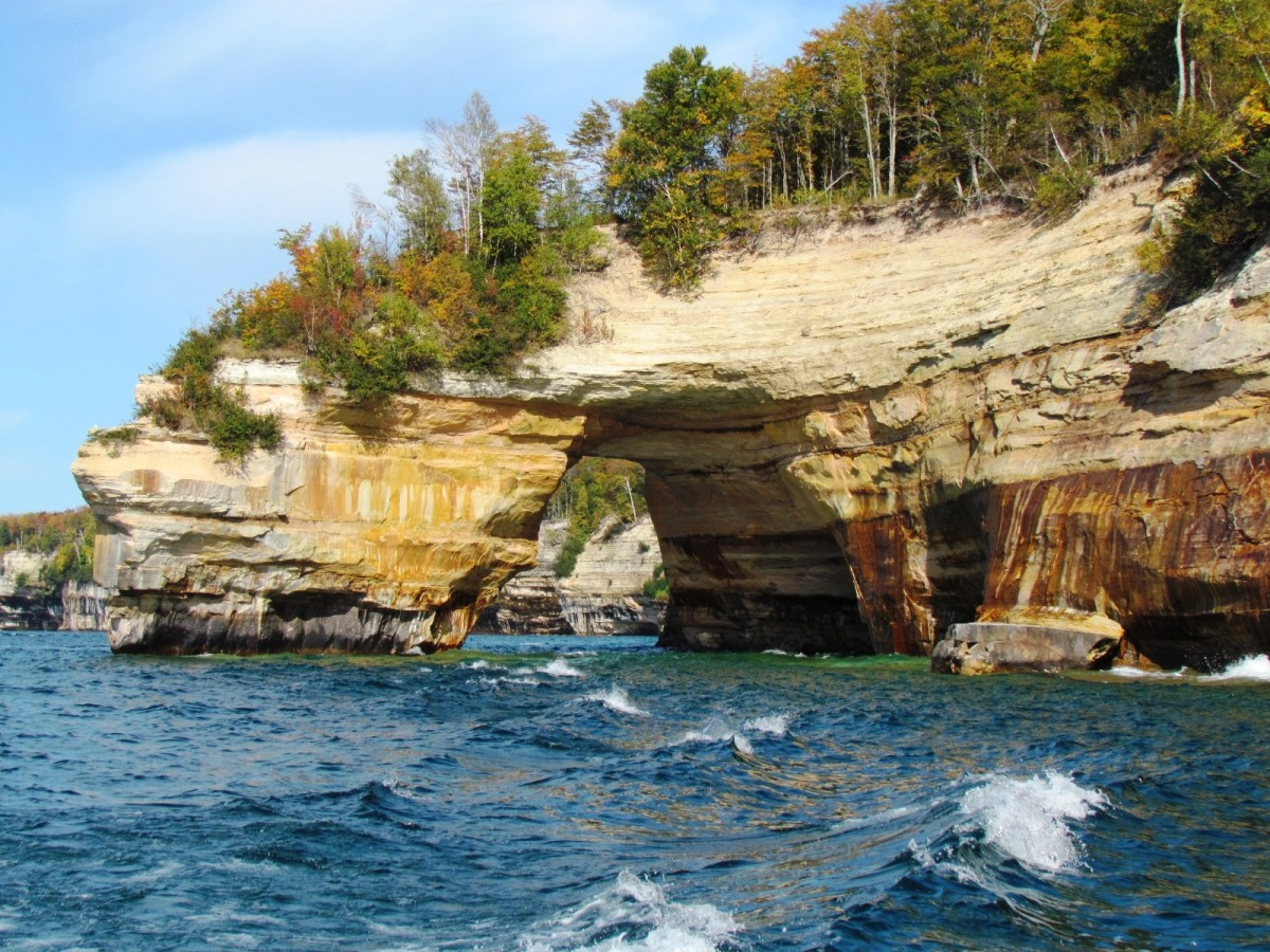 Pictured Rocks National Lakeshore on Lake Superior
