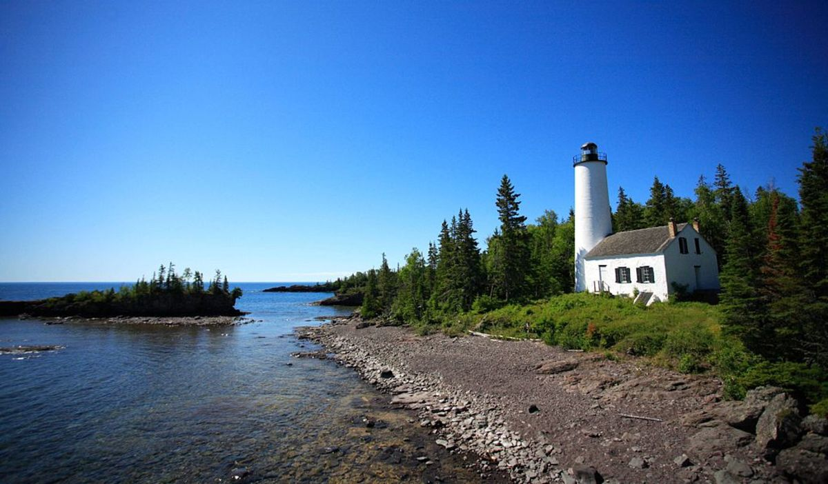 Rock Harbor Light House @ Isle Royale National Park, Michigan