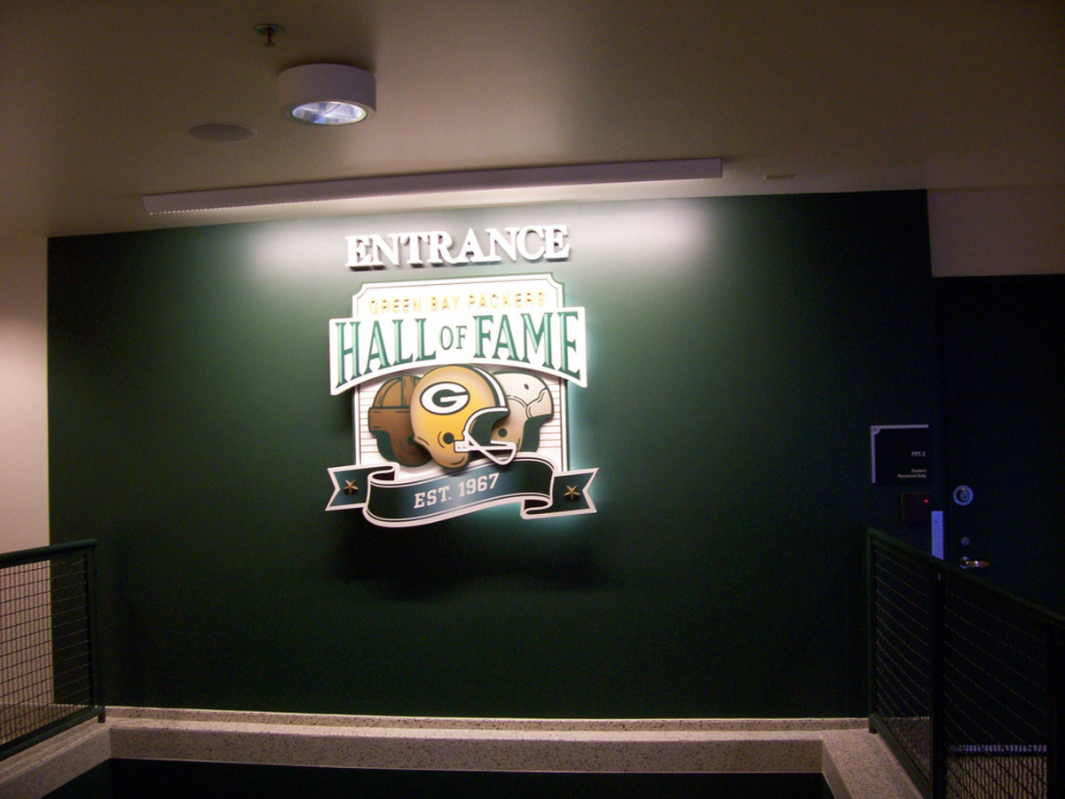 Entrance to the Green Bay Packers Hall of Fame @ Lambeau Field in Green Bay, Wisconsin.