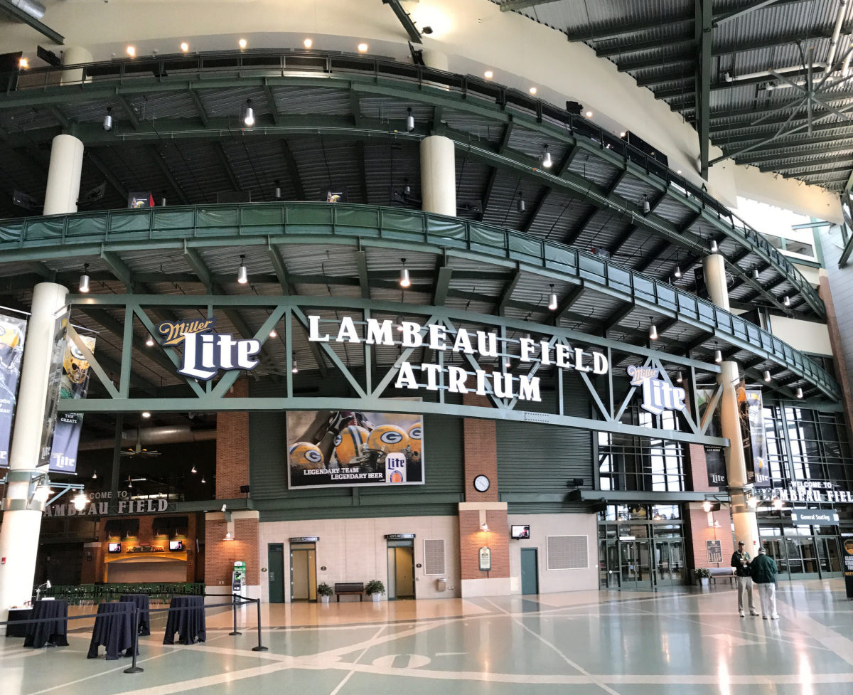 Lambeau Field Atrium in Green Bay, Wisconsin