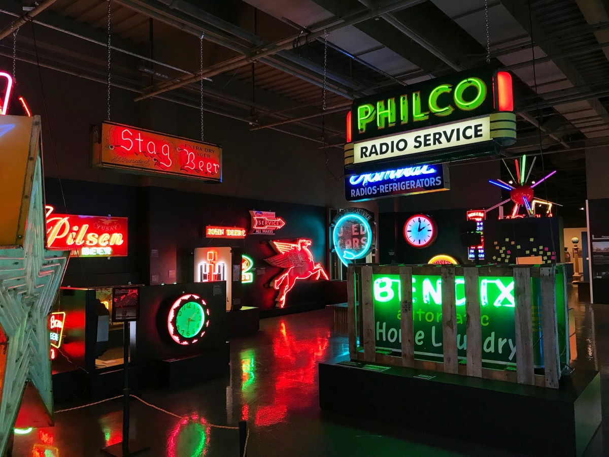 Neon Exhibit at the Neville Public Museum in Green Bay, Wisconsin