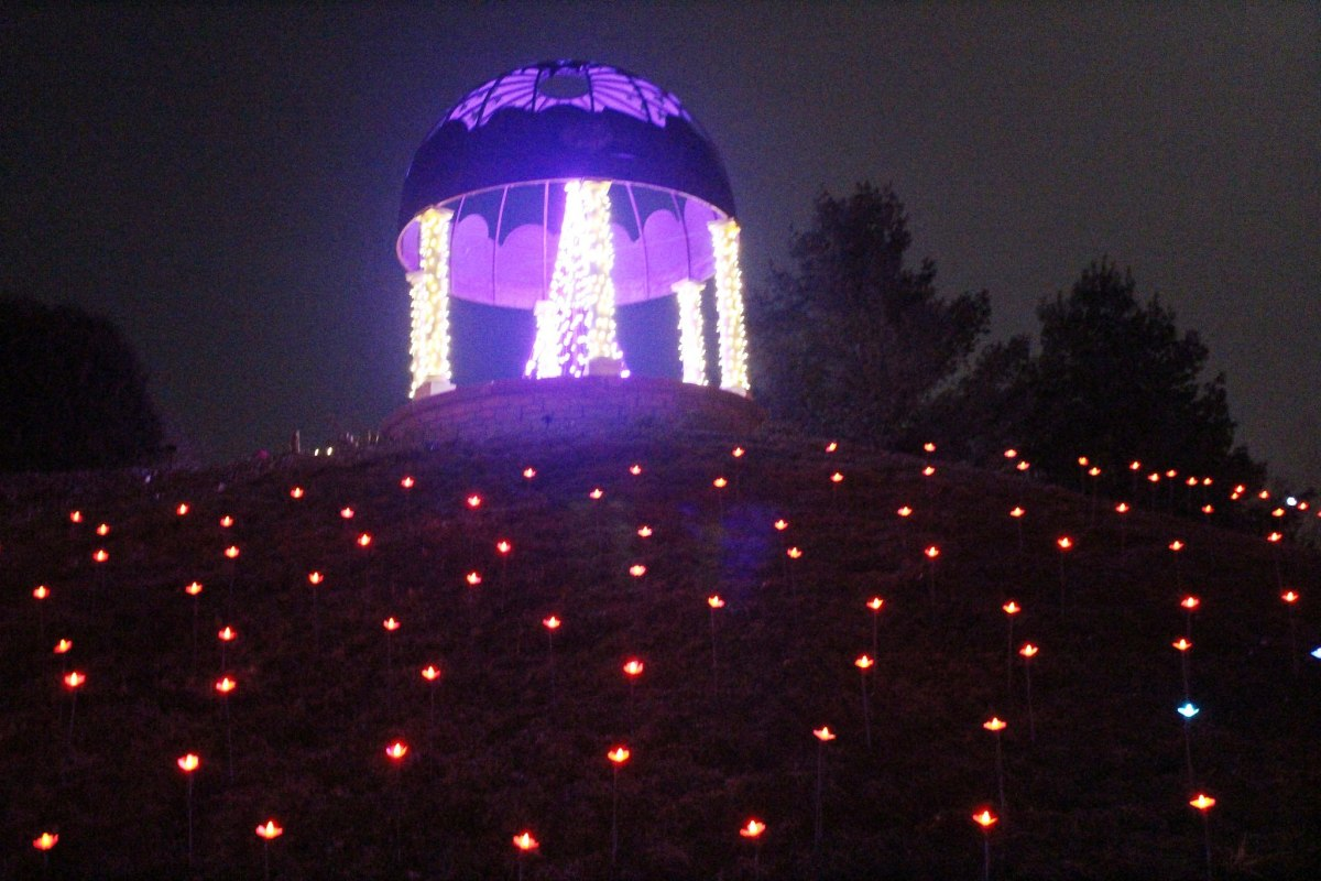 Garden of Lights at the Green Bay Botanical Gardens in Green Bay, Wisconsin