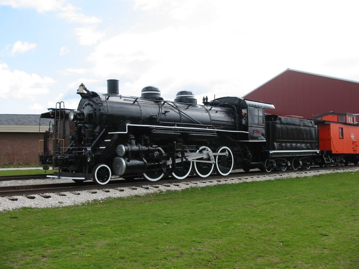 2-8-0 Steam Engine at the National Railroad Museum in Green Bay, Wisconsin