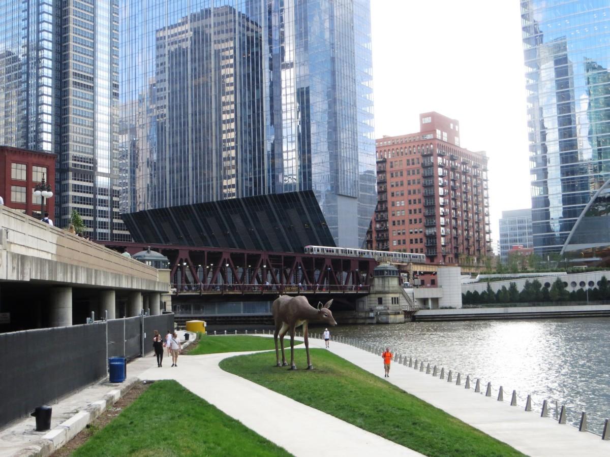 Chicago Riverwalk @ Wacker Drive and Franklin Street in Chicago, Illinois