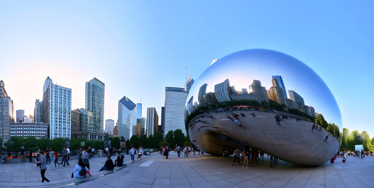 """The Bean"" in Millennium Park in Chicago, Illinois"