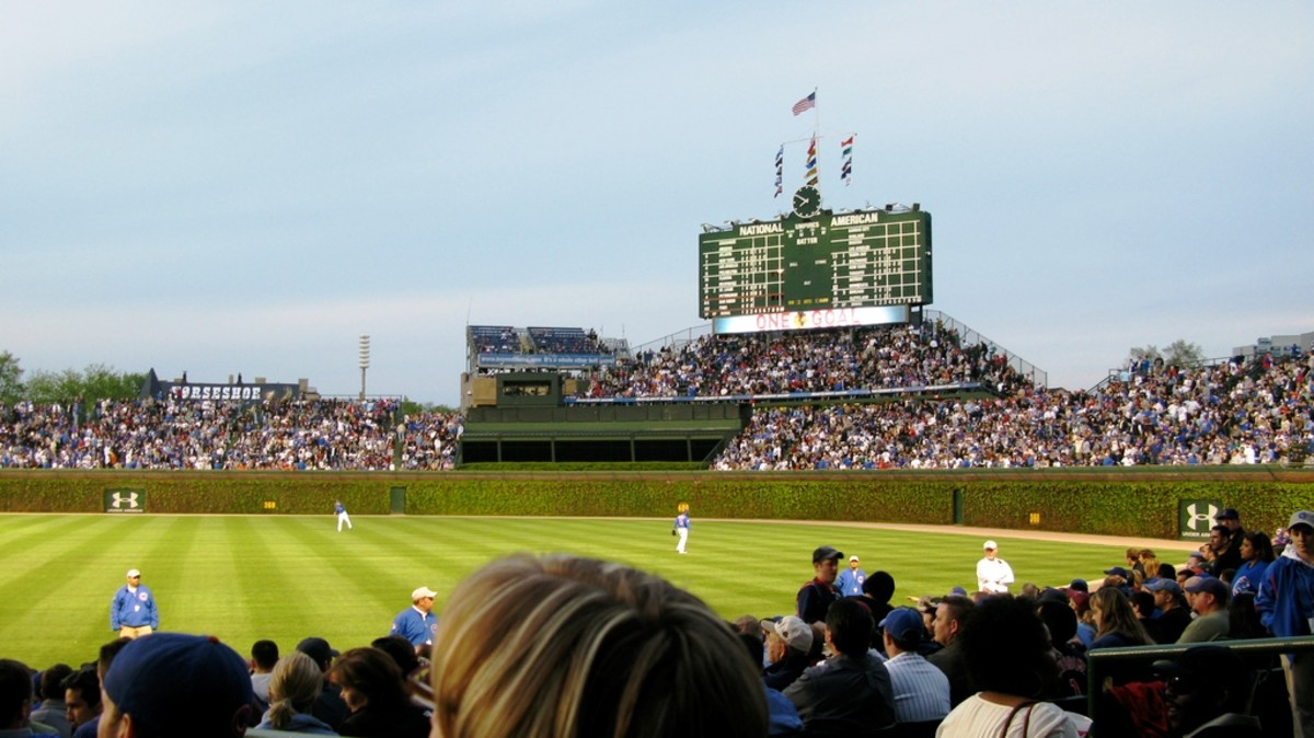 Wrigley Field, home of the Chicago Cubs - Chicago, Illinois