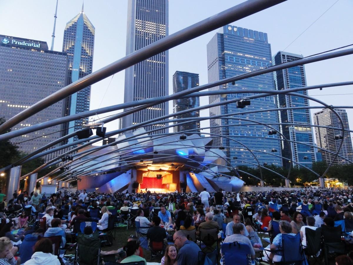 Pritzker Pavilion at Millennium Park in Chicago, Illinois