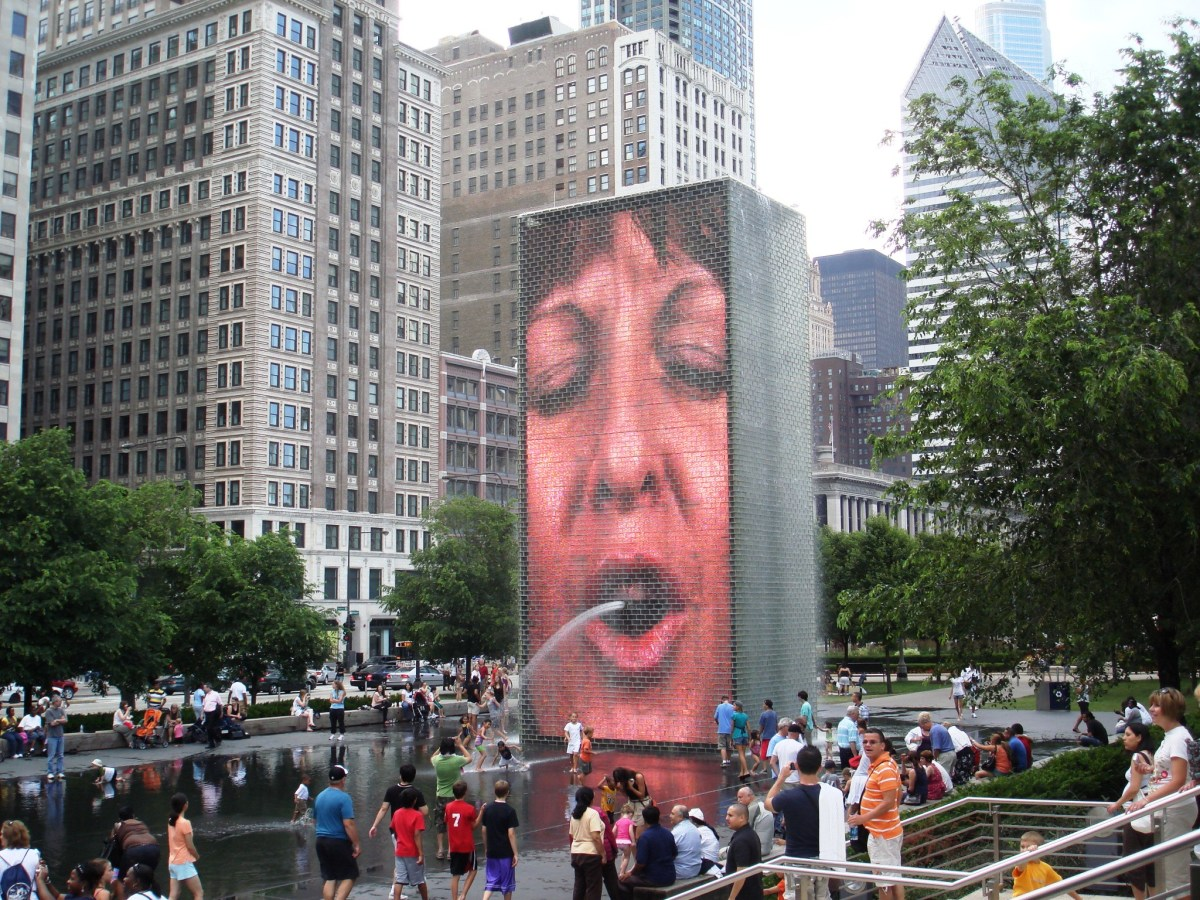 Crown Fountain at Millennium Park in Chicago, Illinois