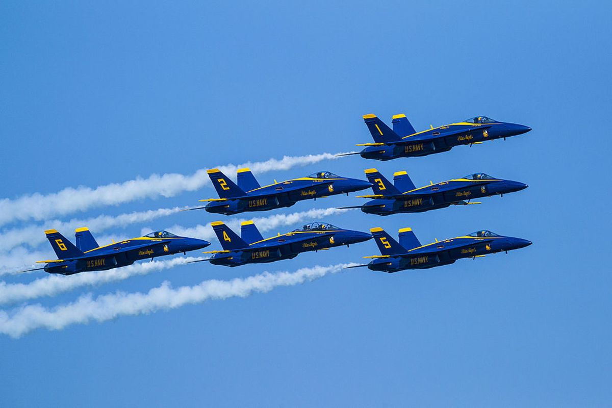 Blue Angels at the Chicago Air and Water Show in 2015 - Chicago, Illinois