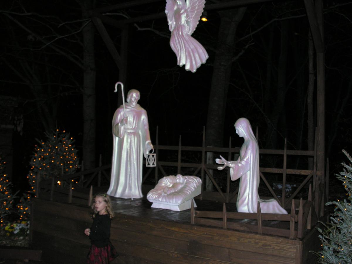 Nativity scene, December 2013.