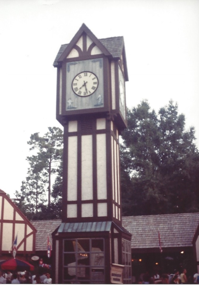 "Big Ben in ""England"", Busch Gardens, 1994."
