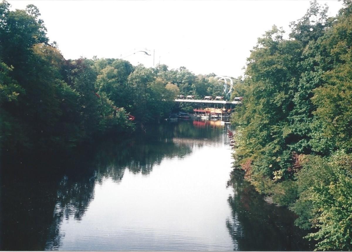"""The """"Rhine River"""" aat Busch Gardens, circa 2010."""