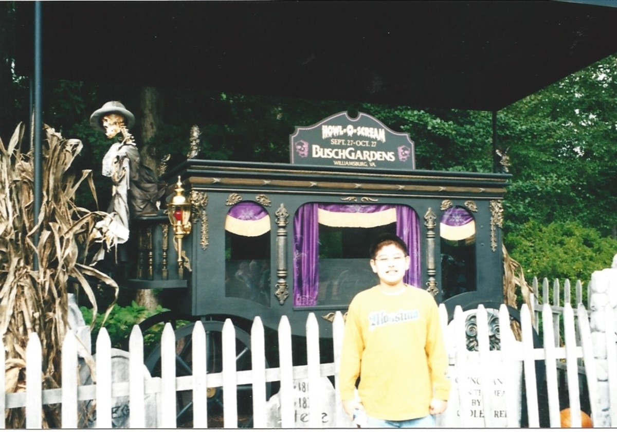Busch Gardens in October circa 2000.