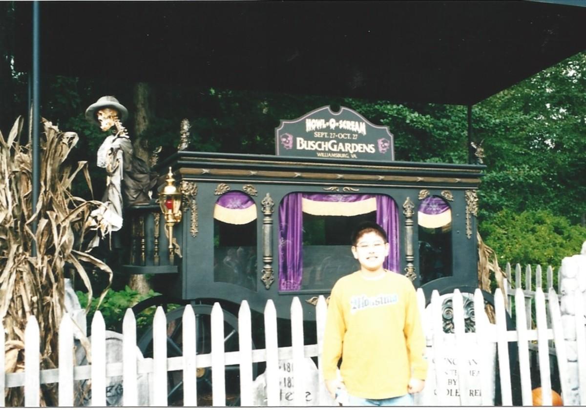 Busch Gardens in October circa 2000.