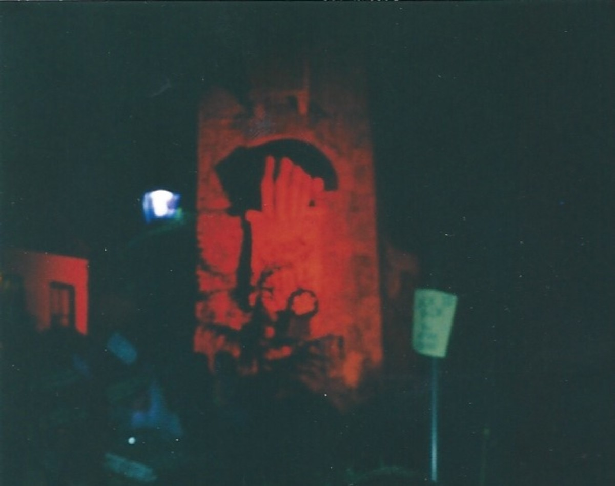 Busch Gardens during Hallowscream, 2002.