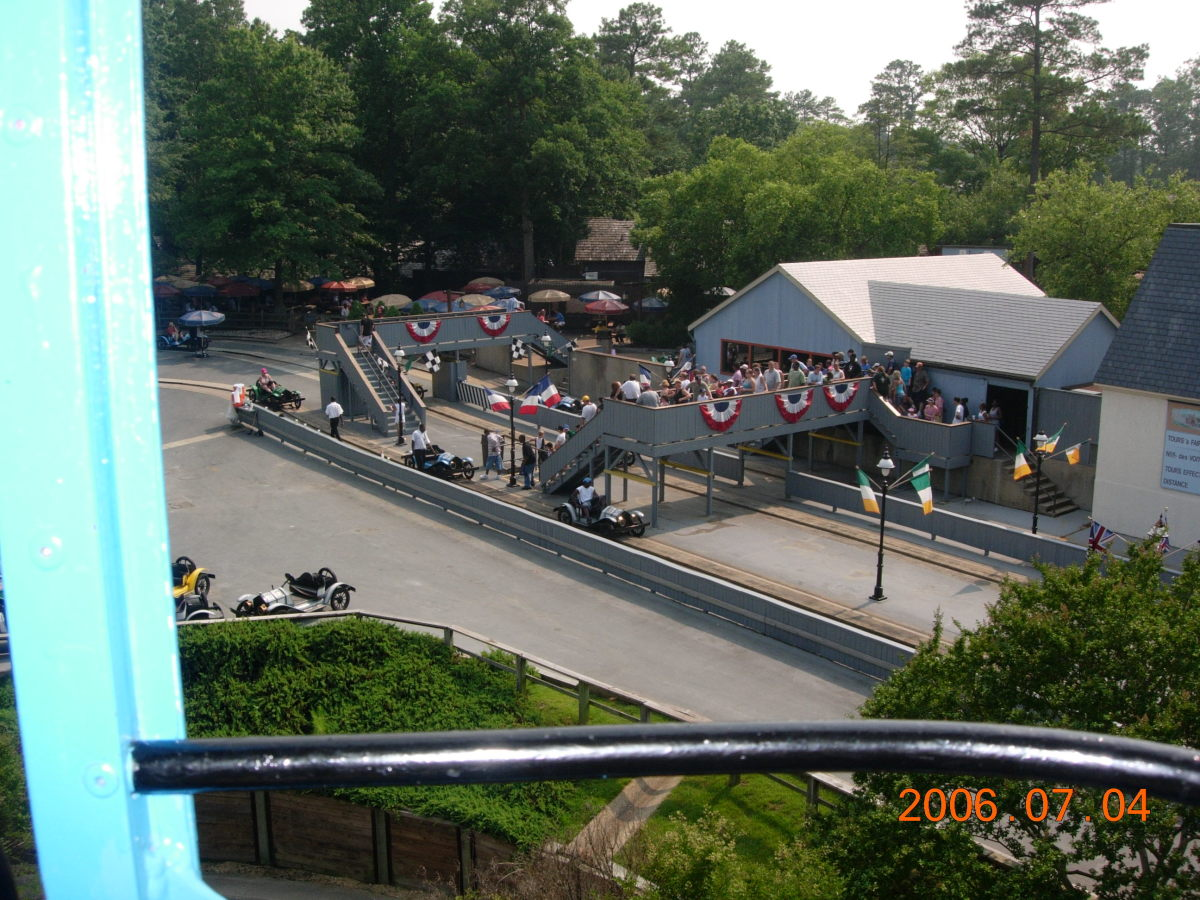 A view of the LeMans raceway from the sky tram.  This ride has since closed down.