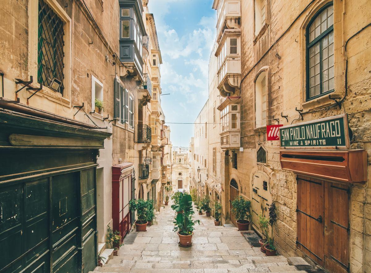 A Sunny Street in Malta