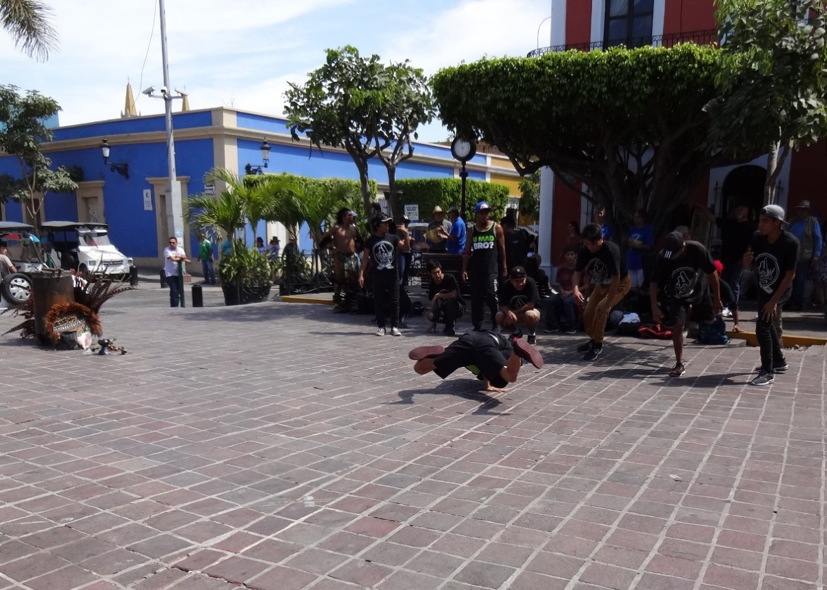 These high-energy performers put on an entertaining show in the square.