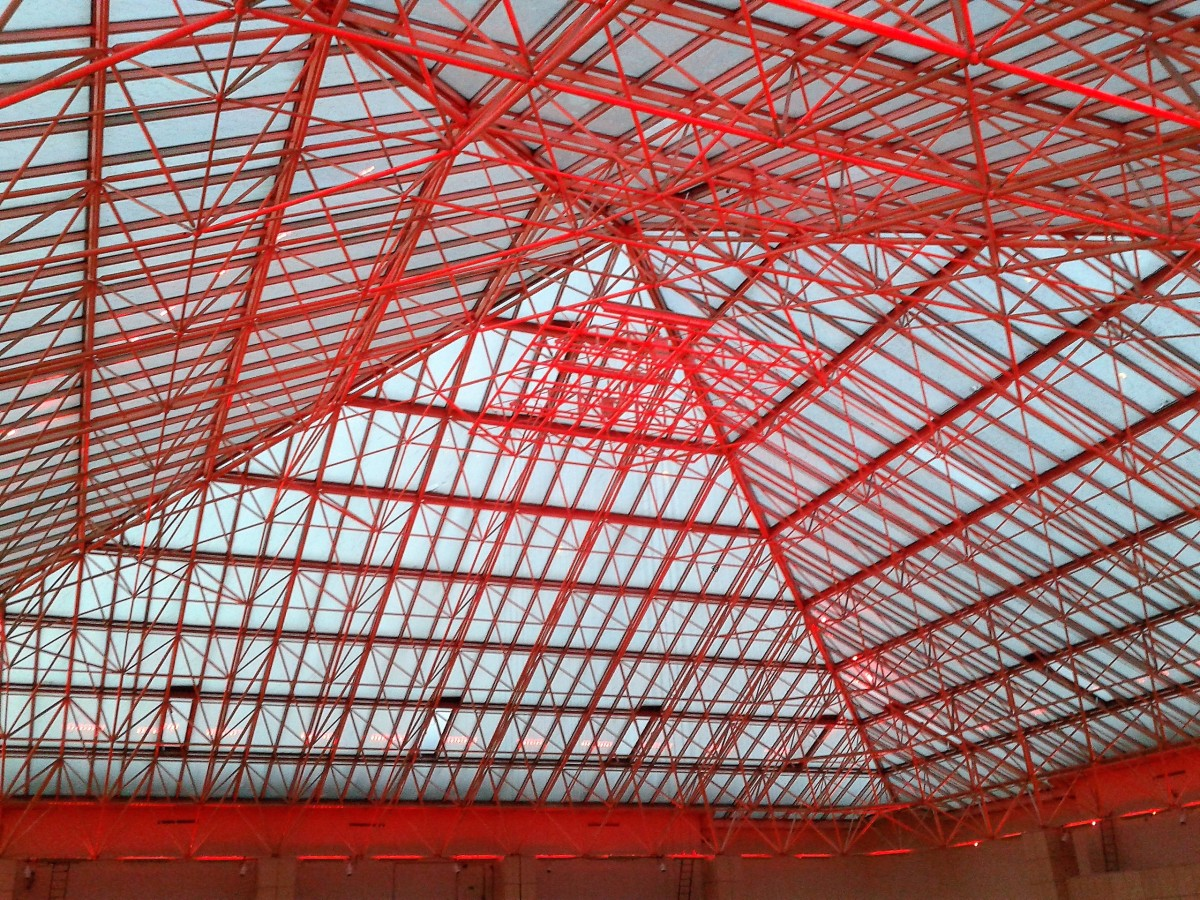 The pyramid roof.