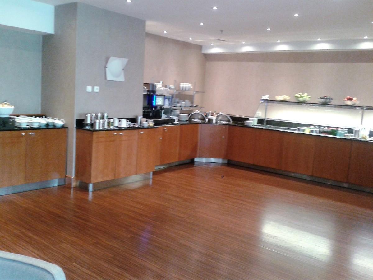 The buffet area.