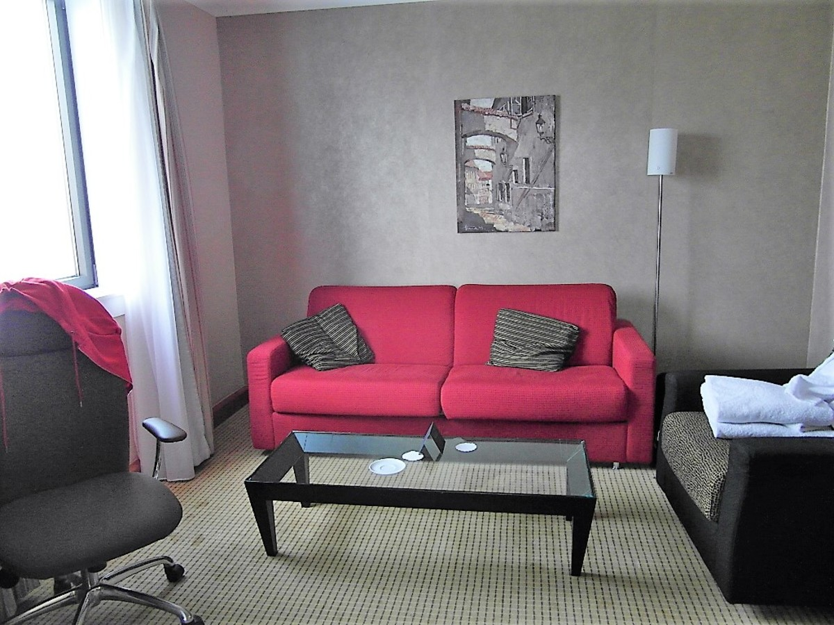 Sofa in lounge.
