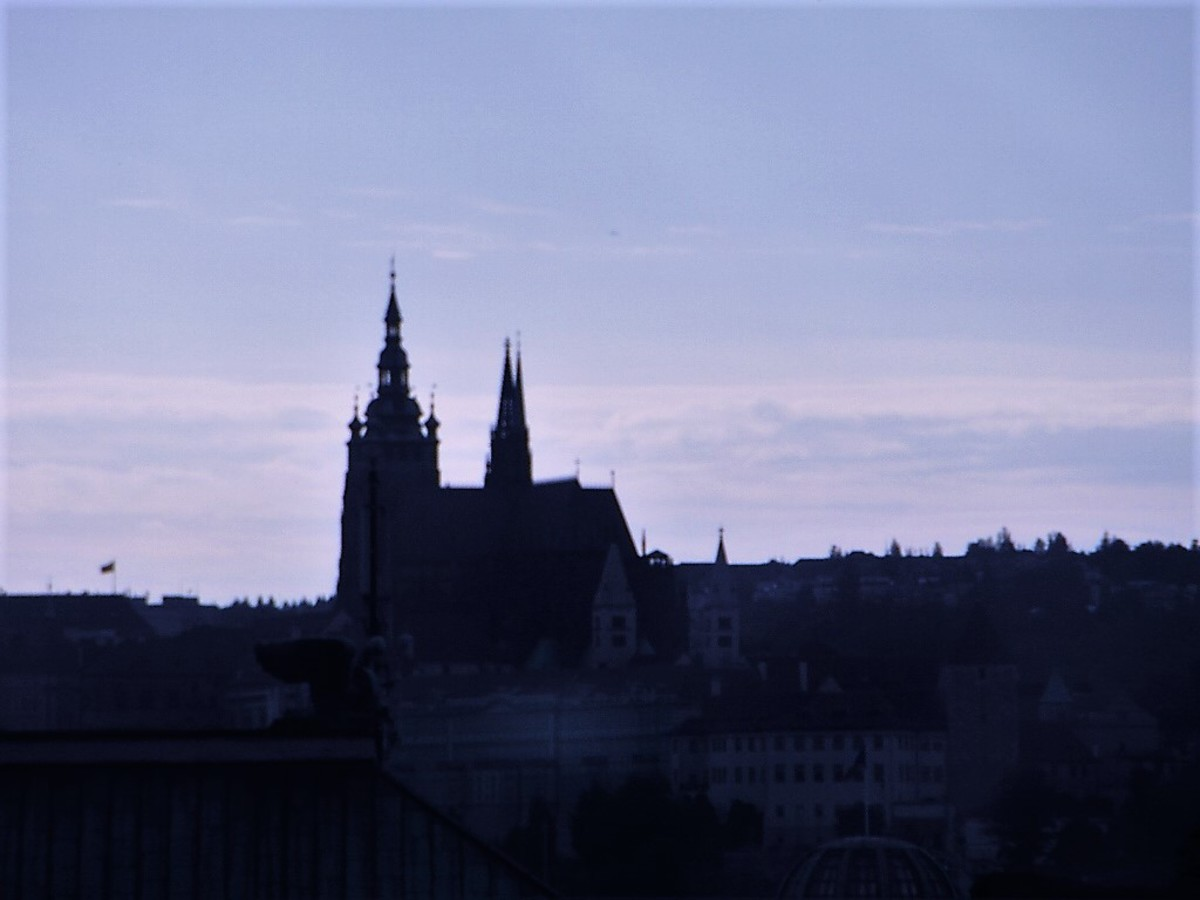 View of Prague from our room.