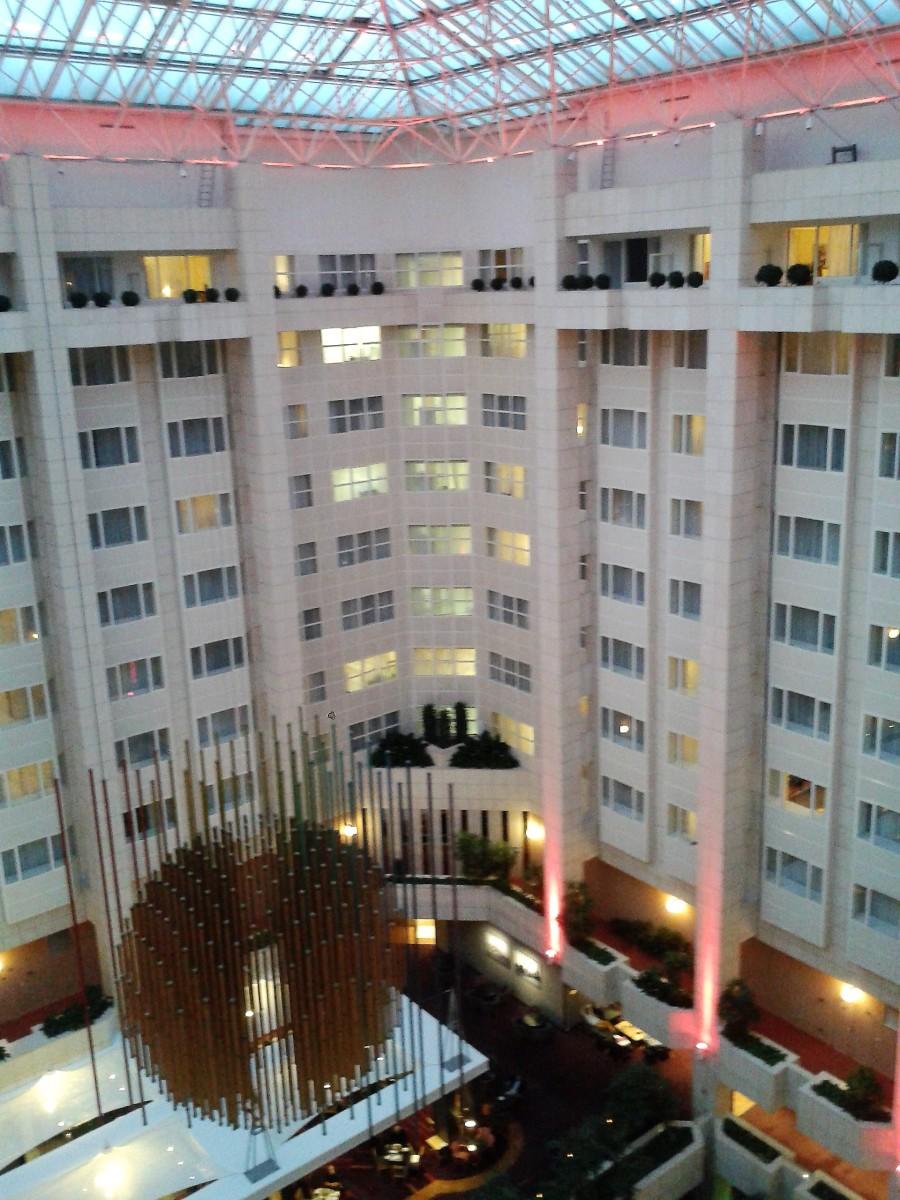Rooms around the atrium.