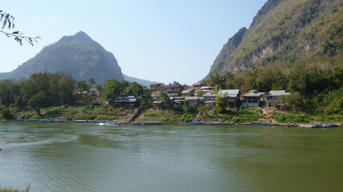 Nong Khiaw is accessible by boat ride from Luang Prabang.