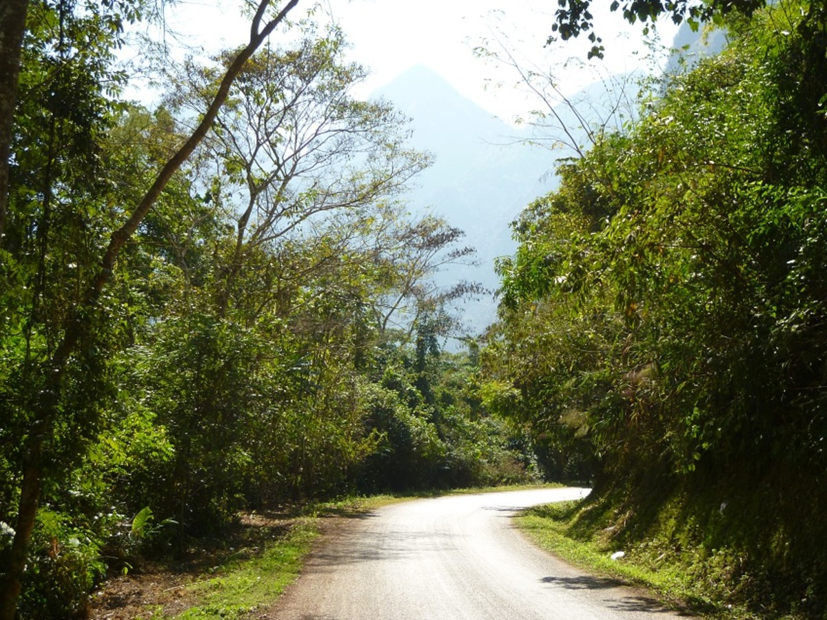 The Road to the Caves of Nong Khiaw.