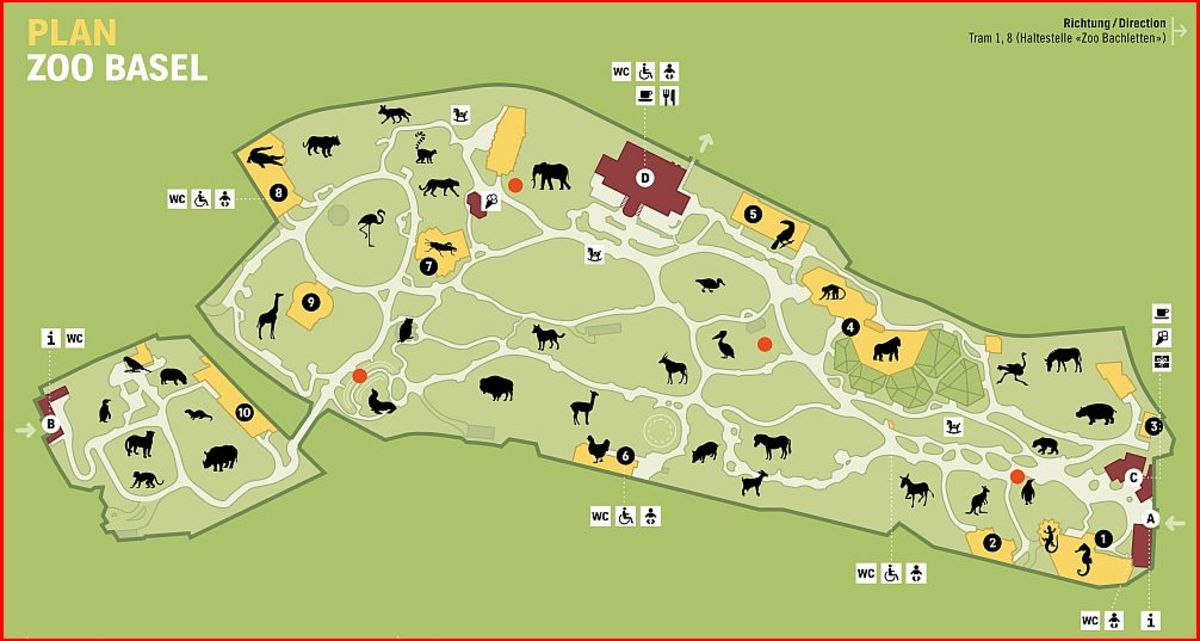 The Map of the Basel Zoo